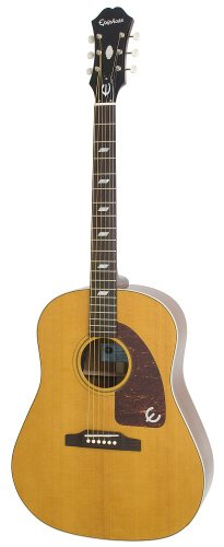 Epiphone Inspired by 1964 Texan Acoustic/Electric, Antique Natural - Epiphone Acoustic Gitarre Electric