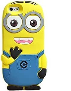 Gulwan Branded Cartoon Minion Soft Rubber Silicone Back Case Cover For Vivo V5
