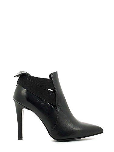 CAF NOIR Les chaussures noires MC146 Mast socket talon pointe élastique