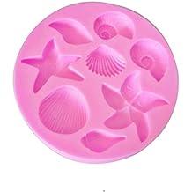 kentop silicona forma estrella de mar y conchas cuerno de forma molde Fondant Moldes Chocolate Jalea