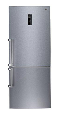 LG GBB 548 NSQZB Kühl-Gefrier-Kombination (A++, 326 L Kühlteil, 119 L Gefrierteil, Edelsthal, 185 cm Höhe, 294 kWh/Jahr, Einfaltbare Glas-Abstellfläche, NoFrost, Smart Diagnosis)
