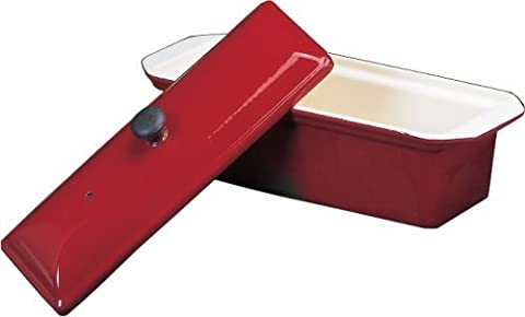 Chasseur Enameled Cast-Iron Pate Terrine Mold, Red by World Cuisine