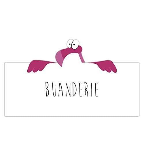 Plaque de porte flamant rose pour chambre, buanderie, toilettes, salle de bains, cuisine, bureau, privé, signalétique humoristique
