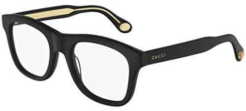 Gucci Brille (GG-0480-O 001) Acetate Kunststoff schwarz glänzend - kristall kristall