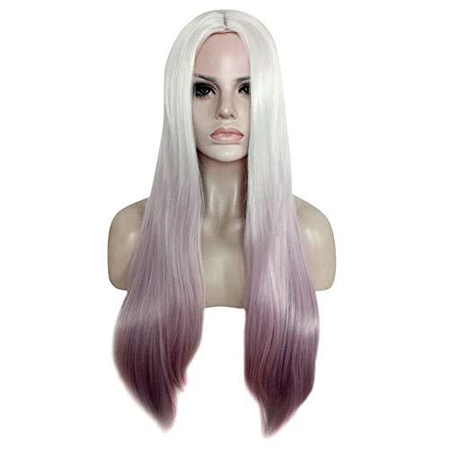 es Haar Perücke Synthetische Gradienten Hellviolette Haar Hitzebeständige Lange Perücke ()