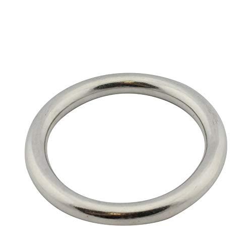 D2D | VPE: 1 Stück - Edelstahl Ring - Größe 6 x 35 mm - M8229 A4 V4A - geschweißt und poliert - Öse O-Ring (Größe Ring 6)