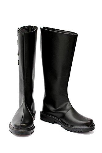 Devil May Cry Dante Stiefel Karneval Schuhe Dante Cosplay Boots Herren Schwarz 42