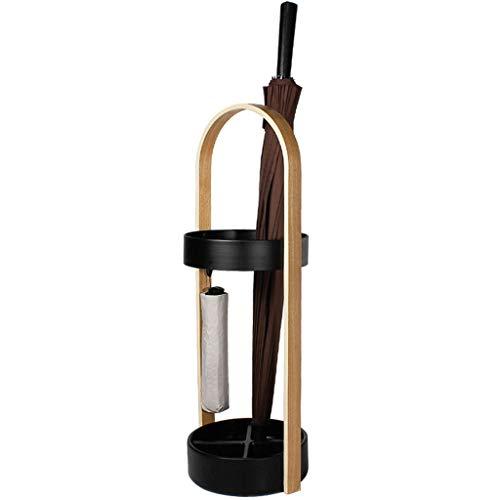 Stockage debout Parapluie européen seau ménage parapluie stand bureau modèle chambre stockage de parapluie (Couleur : NOIR)