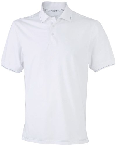 James & Nicholson Herren Poloshirt White/Black