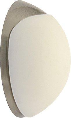WAGNER Design-Wand-Türstopper Screw OR Glue Schrauben oder Kleben - Metall gebürstet, thermoplatischer Kautschuk, weiß, Druchmesser 38 x 16 mm, Designpreis - 15513011