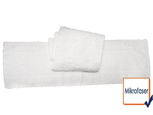 2er-Set Ersatztücher für Dampfreiniger DO230SR / DO231SR - Maße 42 x 12cm - Waschbare Mikrofasertücher