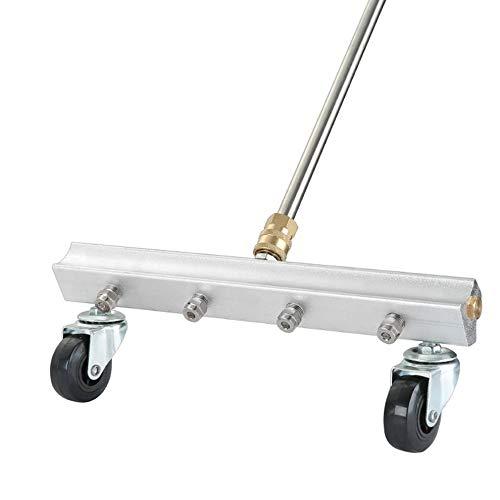 Auto-Hochdruckreiniger Auto-Unterwagen-Reiniger mit 1/4 Zoll-Stecker unter dem Körper-Fahrgestell-Wasserbesen-Gebrauch für Auto-sauberen Straßengebrauch - Silber