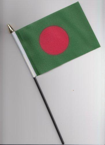 Drapeau Bangladesh à main 25 cm