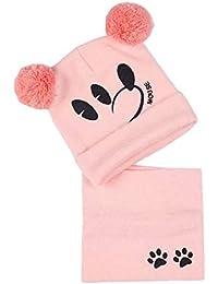 Cappelli e sciarpe per bebè Infantili per bambina Berretti invernali con  pon pon e scaldacollo 01512036a5e4