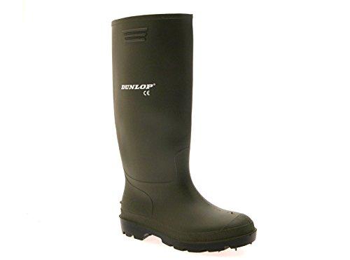 Dunlop - Stivali da pioggia/da neve/Wellington unisex adulto , verde (Womens - Green with Black sole), 34