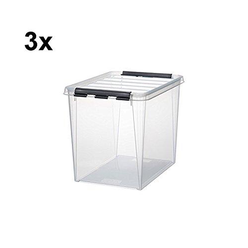 3 x HAMMARPLAST SmartStore Classic 16 Box - 25 Liter - 400 x 300 x 320mm - transparent - Classic 16