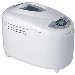 Concept Electrodomésticos PC-5040 Panificadora casera para el Pan sin Gluten, 850 W, Plástico, Blanco