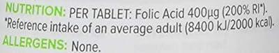 Bulk Powders Folic Acid Tablets 400 µg, 180 Tablets