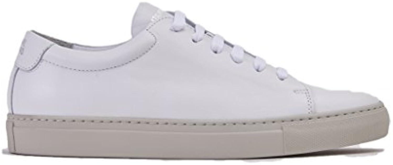 NATIONAL STANDARD Low Leder Sneaker Edition 4 White Suede