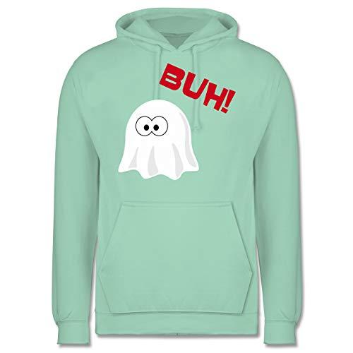 Halloween - Kleiner Geist Buh süß - S - Mint - JH001 - Herren Hoodie
