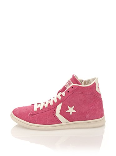 Converse Pro Leather Lp Mid Suede Zip T, Baskets Basses Femme Rose
