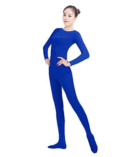 NiSeng Erwachsener und Kind Ganzkörperanzug Kostüm Lange Ärmel Bodysuit Kostüm Zentai Offene Bodysuit Kostüm Saphir L (Blau Bodysuit Kostüme)
