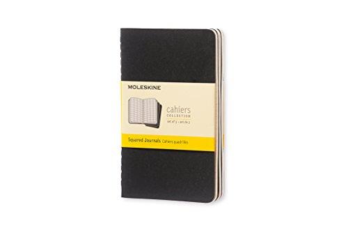 Moleskine Cahier Notizhefte (kariert, Pocket) 3-er-Set