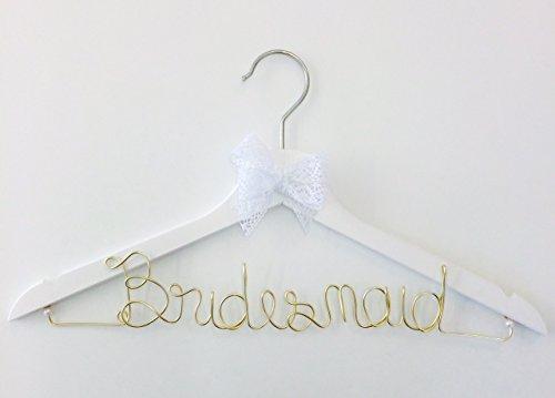 Kleiderbügel Bridesmaid Gold für Ihre Hochzeit - individuell gestaltbar auch mit Name, Geschenk zur Hochzeit, Brautkleid