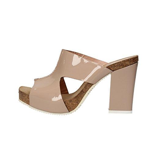 SERGIO CIMADAMORE sandali donna beige vernice AF491 (36 EU)