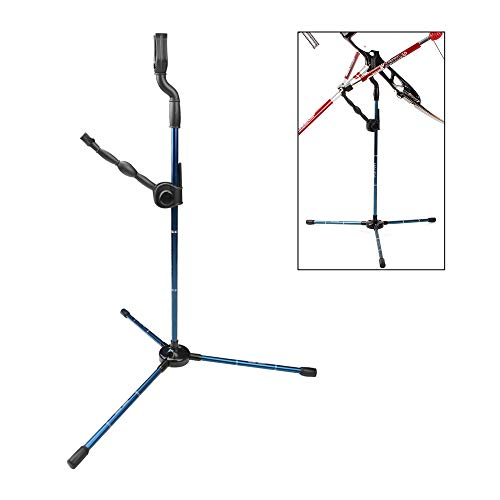 SHARROW Pro Bogenständer für Recurvebogen Langbogen Bogen Halter Balance Bar Ständer Seitenständer Bogensport Zubehör Pfeile und Bogen (Blau) -