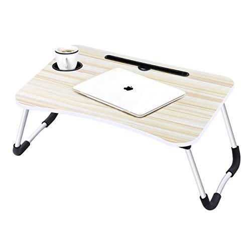 Laptop-Betttisch Lap Stehender Schreibtisch für Bett und Sofa Laptop Lap-Schreibtisch Folding Frühstück Serviertablage Notebookständer Lesehalter mit Cup Slot für Couchboden Kids (60 x 40 cm) -