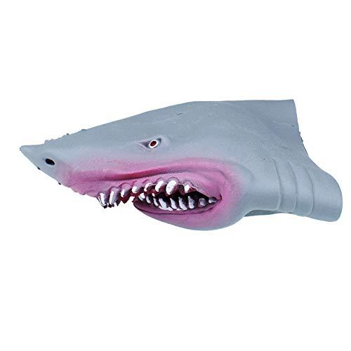 1PC tiburón marionetas mano goma suave tiburón realista