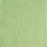 Ambiente - Cocktail Servietten - Elegance - geprägt - 25x25cm - 15 Stück - verschiedenen Farben (Pale green - 7907) (Home Elegance 3 Stück)