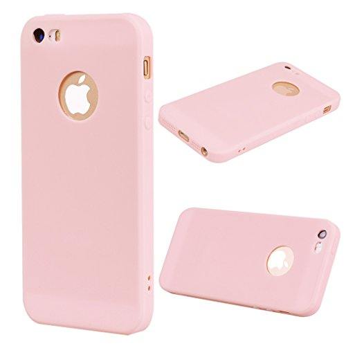 Per iPhone 5 / SE / 5S Cover , YIGA Nero Silicone Morbido TPU Case Shell Caso Protezione Custodia per Apple iPhone 5 / SE / 5S pink