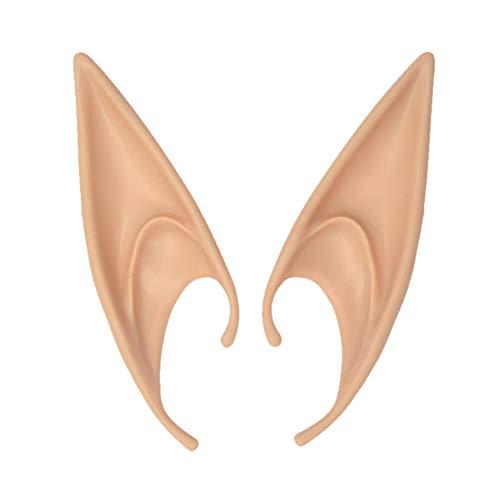 Symbol 2 Stück Elf Ohren Weich Engel spitz Fee Kostüm Geschenk für Halloween Party Cosplay