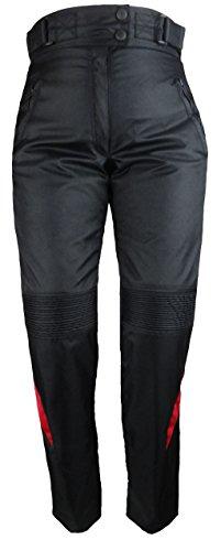 Bangla 1711 Damen Motorradhose Tourenhose Textil Cordura 600 Schwarz Rot XL