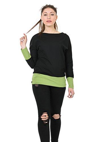 Pull avec poches 3Elfen Femme chandail noir vert