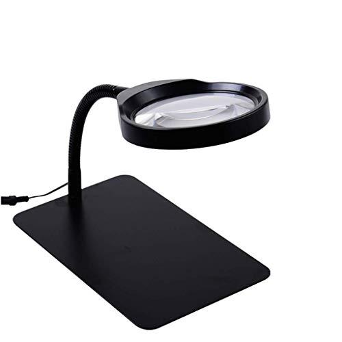 Sehhilfen 10x Desktop-Lampe Lupe, 36 LED-Licht Hd 10x Lupe mit 120 cm Netzkabel für ältere Menschen , Studenten Ideales Lesen von Kleingedruckten Zeitung Lernkarte Bürobedarf -