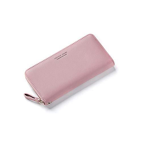 ZFASHION Weichen Damen-Armband lang Clutch Portemonnaie große Kapazität Portemonnaie Portemonnaie Geldbörse Handyfach Kartenhalter Carteras (lila) -