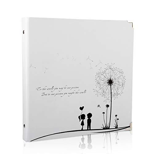 ThxMadam Selbstgestalten Fotoalbum Scrapbook Album Foto Buch Hochzeit Gästebuch Vintage 50 Schwarze Seiten für…