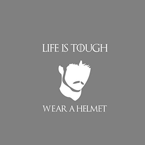 GoT: Life is Tough. Wear a Helmet - Stofftasche / Beutel Grau