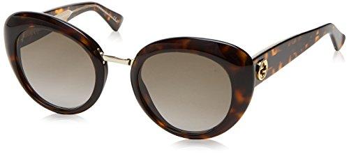 Gucci GG Logo Contemporary Cateye Sunglasses in Dark Havana GG 3808/S KCL 51 51 Brown Gradient