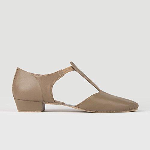 So Danca Griechische Sandale Leder, Weite M Tan