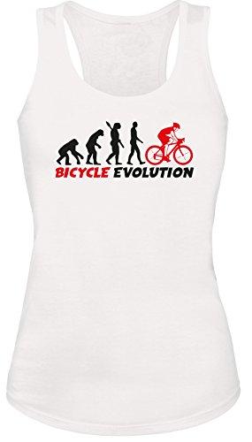 Bicycle Evolution - Fahrrad Evolution - Damen Tanktop Weiss/Schwarz-rot