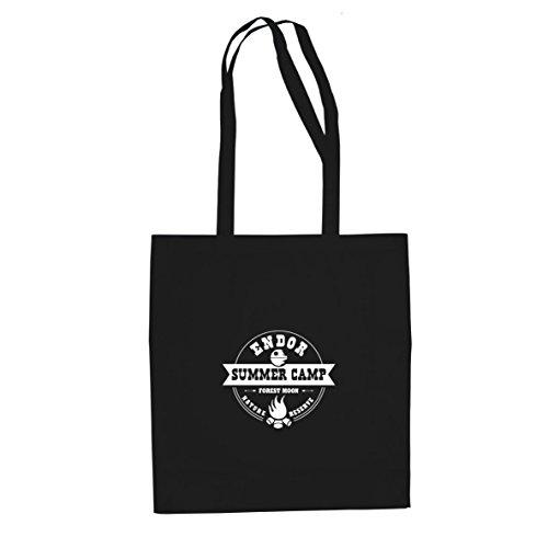 (SW: Endor Summer Camp - Stofftasche / Beutel, Farbe: schwarz)