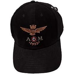 Aeronautica Militare - Gorra de béisbol - para Hombre Negro Negro Talla única