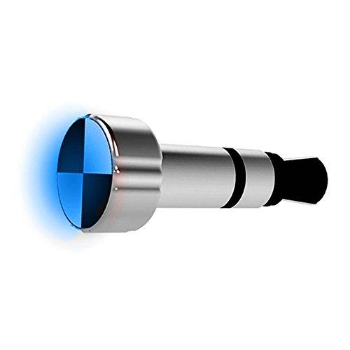 GuDoQi Mini IR Inteligente Remoto Azul llevó la luz 3.5 mm Auriculares Polvo Plug electrodomésticos de Control Inteligente para iPhone Dispositivos de la Serie iPad Plata