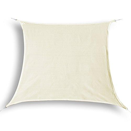 hanSe® Marken Sonnensegel Sonnenschutz Segel Quadrat 2x2 m Creme