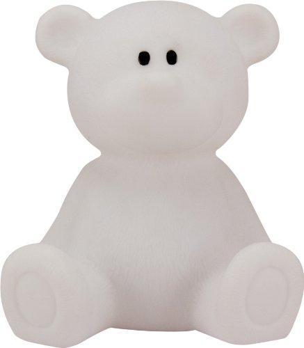 Ulysse - Lampada notturna per bambini a frma di orso, Bianco
