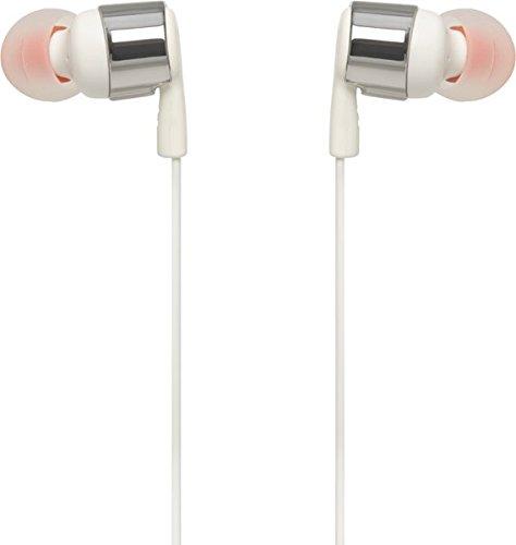 Image of JBL T210 In-Ear Kopfhörer Ohrhörer mit 1-Tasten-Fernbedienung und Integriertem Mikrofon Kompatibel mit Apple und Android Geräten - Silber/Weiß